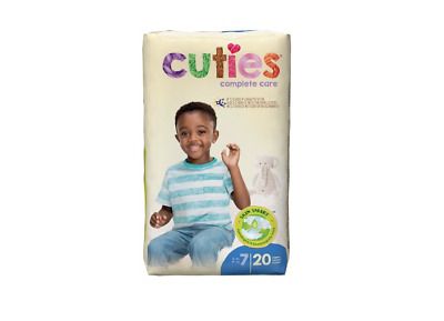Cuties Baby Diapers, Size 7, CASE OF 80 - CRD701