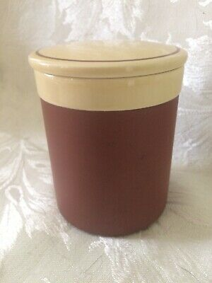 VINTAGE HORNSEA POTTERY PRESERVE LIDDED JAR EXCLUSIVELY FOR HARRODS 1980's