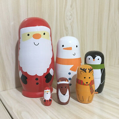 6pcs Cute Nesting Dolls Decration Stacking Doll Adorable Collection Toy for Kids