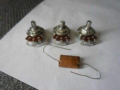 Vintage 1954 Fender Stratocaster Matched Set pots  250k Potentiometers W Cap
