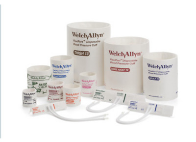 Welch Allyn Flexiport Disposable Blood Pressure Cuffs: Multiple Sizes, Case/20