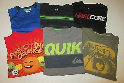 Lot 6 Summer Shirts  Boys XL  Quik Silver, Hard Core, Annoying Orange, Buffalo