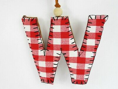 Letter E Monogram Ornament Plaid Checkered Target Gather Binned Red//Black