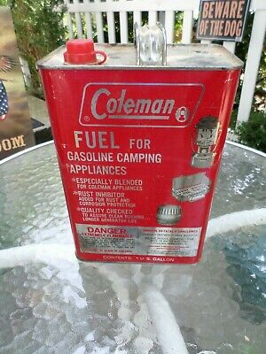 Vintage COLEMAN LANTERN ONE GALLON CAN (empty) Oil Gas Fuel ADVERTISING !!!
