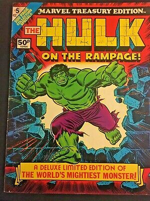Marvel Treasury Edition. The Hulk On A Rampage. Volume 1. No.5. 1975. Rare.