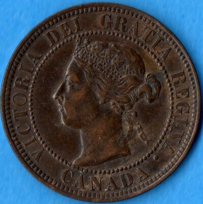 Canada 1899 1 Cent One Large Cent Coin - EF-45