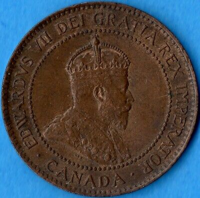 Canada 1903 1 Cent One Large Cent Coin - AU+