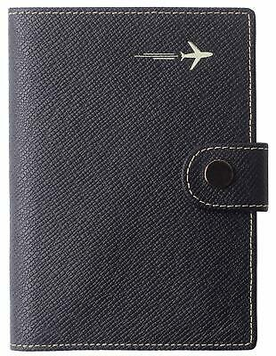 Passport Holder Cover Wallet Rfid Blocking Leather Card Case Travel Document Org