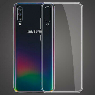 For Samsung Galaxy A70 A50 A40 Crystal Clear Slim Soft Silicone Phone Case