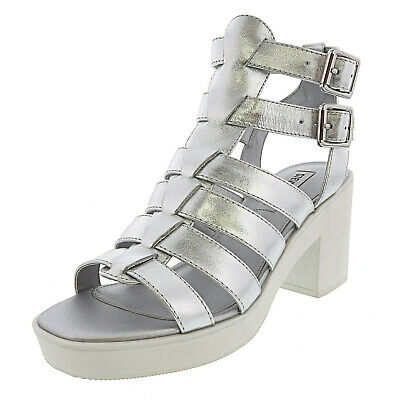 498f8fa8d80 STEVE MADDEN WOMENS Clue Leather Open Toe Casual Strappy, Black ...
