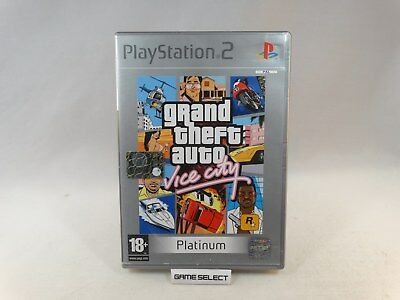 GRAND THEFT AUTO VICE CITY GTA SONY PS2 PLAYSTATION 2 PAL ITALIANO con MANUALE