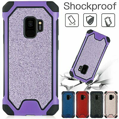 Heavy Duty Armor Rubber Phone Cover Bling Hard Back Case For iPhone xs max 8 P X