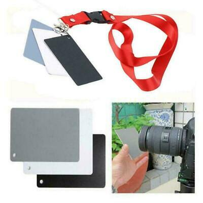 Digital Color Balance 18% Gray Card 3in1 Black Grey White For Photography Y3N7