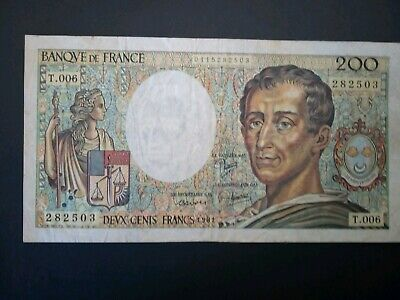 Banknote, France,1981(VF) 200 Francs.