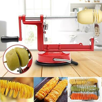 Potato Spiral Cutter Chips Stainless Steel Vegetable Slicer Manual Kitchen Tools