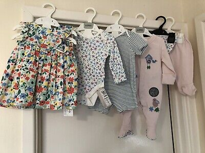 M&S Baby Girl 0-3 Month Bundle All Bn Items Marks Spencer 6 Items