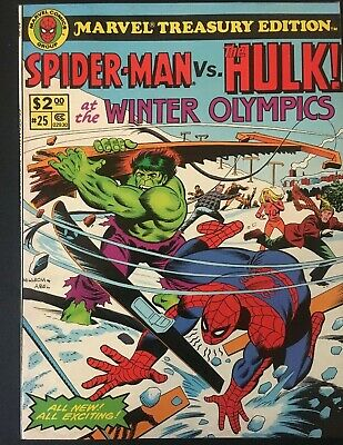 Marvel Treasury Edition. Vol 1. No.25. Spiderman Vs Hulk At Olympics 1980. Rare.
