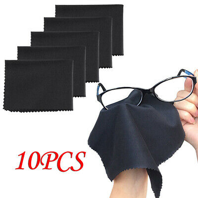 10-Pack Premium Microfiber Cleaning Wipe Cloths for Cameras Lens TV Screen Glass