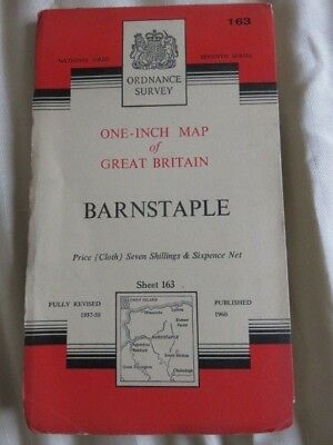 O/S one-inch map Great Britain BARNSTAPLE (1960) sheet 163