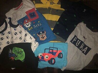 Lot Of 7 Toddler Boys Short Sleeve T-Shirts Tee Tops Shirts Size 4T