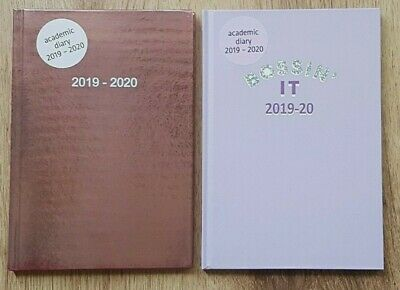 2019 2020 ACADEMIC MID YEAR DIARY SCHOOL PLANNER Gold Typography Pink A5 Week