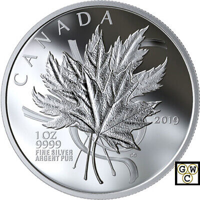 2019 'The Beloved Maple Leaf' Proof $20 Silver Coin 1oz .9999 Fine (18755) (NT)