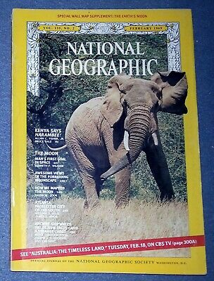 National Geographic Magazine - February 1969 Vol, 135 No. 2 The Moon