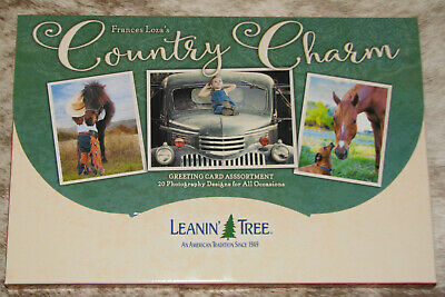LEANIN TREE Country Charm 20 Greeting Card Assortment ~ 20 designs ~#90800