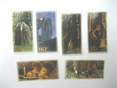New Zealand Nhm Set-2001 Lord Of The Rings Issue  Sg 2458/63