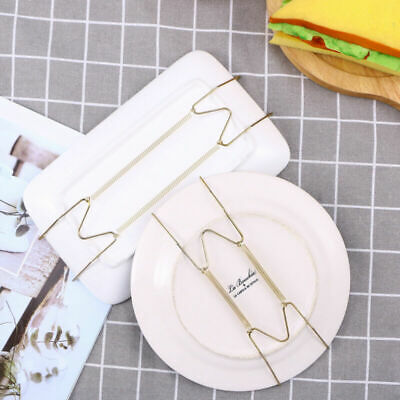 Spring Invisible Plate Tray Dish Wire Hanger Holder Stainless Steel Display Tool