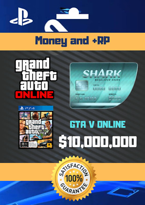 Grand Theft Auto V Online PS4: Megalodon Ultra Shark Cash - $10,000,000 NOT CODE