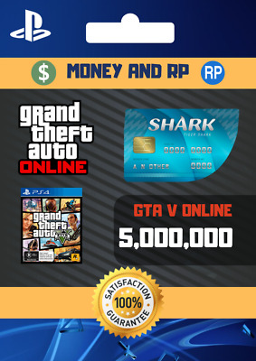 Grand Theft Auto V Online Playstation: Cash - $5,000,000 NOT A CODE