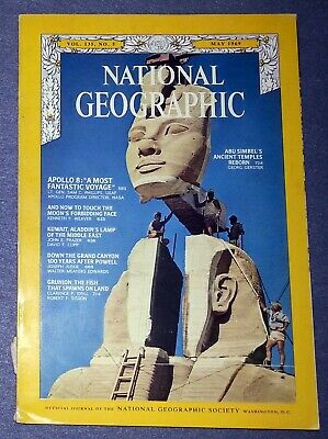 National Geographic Magazine- May 1969  Vol, 135 No. 5 Apollo 8