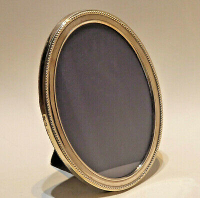 English Sterling Silver Oval Picture Frame