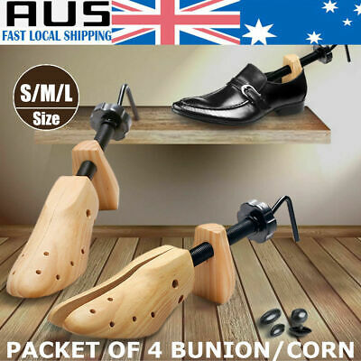 2-Way Wooden Shoes Stretcher Expander Shoe Timber Unisex Bunion Plug AU STOCK
