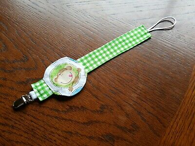 Baby Pacifier Clip Boy Girl Teething Dummy Soother Nipple Strap Handmade