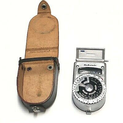 Vintage SEKONIC L-6 Light Meter with Leather case