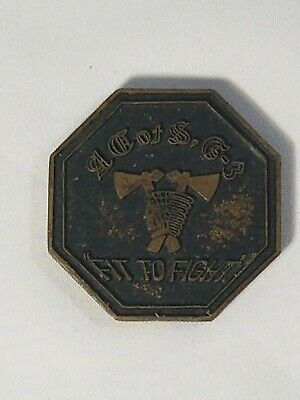 """US ARMY 2nd Infantry Division- second to none-Challenge coin. """"Fit to Fight"""""""