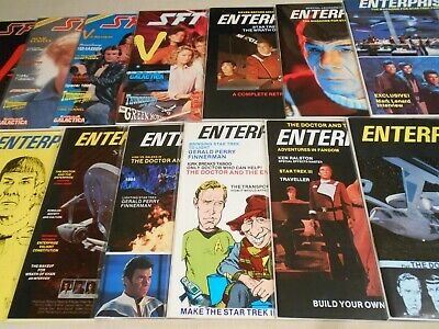 Lot of 13 Enterprise & SFTV magazines/fanzines Star Trek Dr Who V ++ 1984-85 HJS