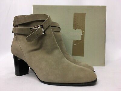 Various Sizes RRP £299. Hobbs Lorna Suede Mix Navy Stretch Boots
