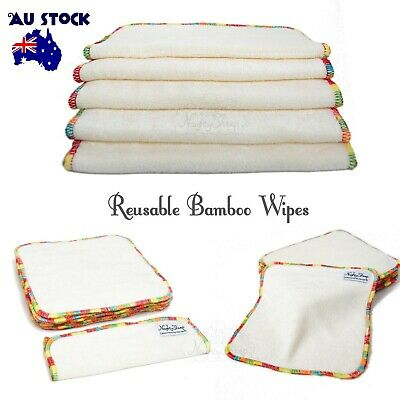 Naughty Sheep Reusable Bamboo wipes baby cloth wipes (colored edge 5,10,20pcs)