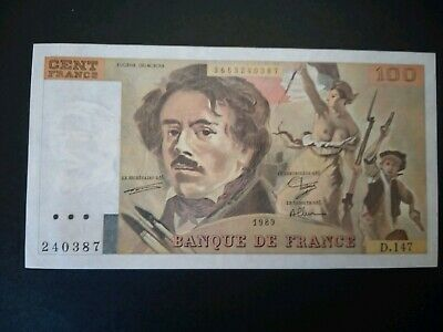 Banknote, France,1989(xf) 100 Francs.