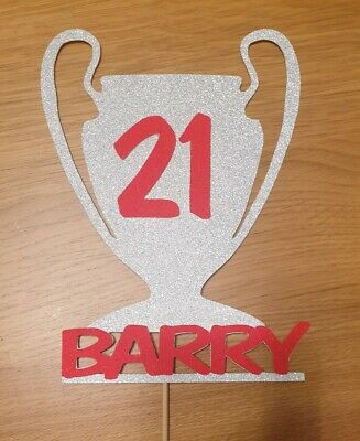 Champions League personalised birthday Cake Topper LFC any age name liverpool
