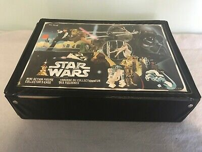 vintage Star Wars carry case with 21 figures