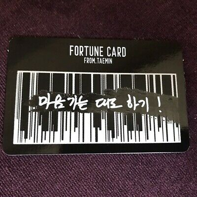 SHINee TAEMIN 2ND CONCERT T1001101 OFFICIAL FORTUNE SCRATCH CARD PHOTOCARD