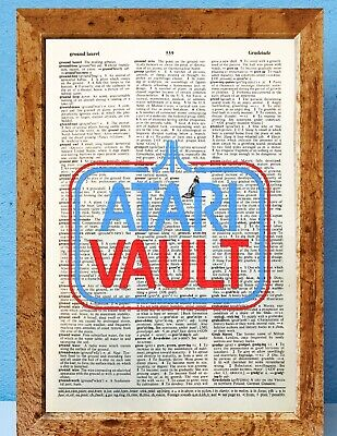 Atari retro gamer art dictionary page art print vintage gift antique book E84