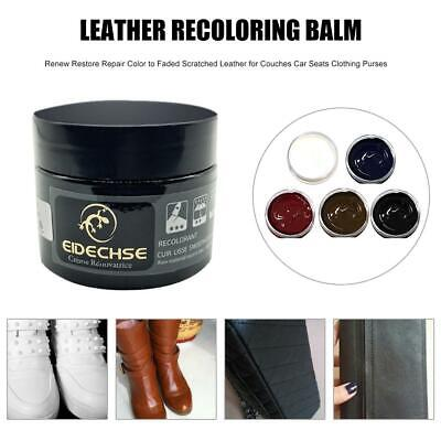 Leather Recoloring Balm Renew Restore Repair Color to Faded Scratched Leather fo