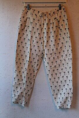 JODI MEARES for Tigerlily palm tree print cropped linen pants sz 3 (10)