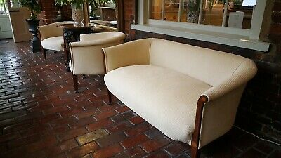 Fine Edwardian Sofa with 2 MatchingTub Chairs with Inlay Design