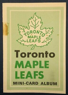 1969-70 OPC O-Pee-Chee Hockey Booklet Mini Album Insert Toronto Maple Leafs